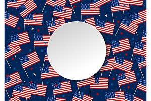 USA flag and star background