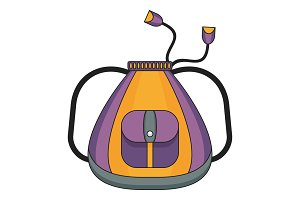 school violet bag color icon