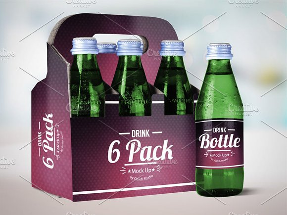 Drink Bottle 6 Pack Mock Up V.2