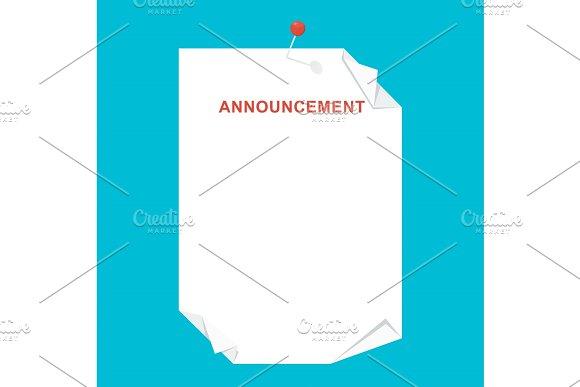 Announcement Blank Sheet