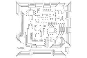 chip scheme elements set