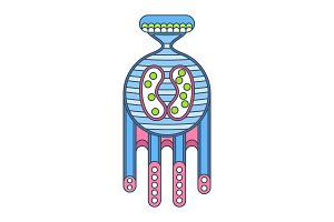 microorganism blue icon