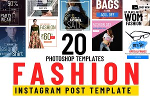 20 Fashion Instagram Post Templates