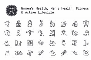 People's Healthcare & Fitness Icons