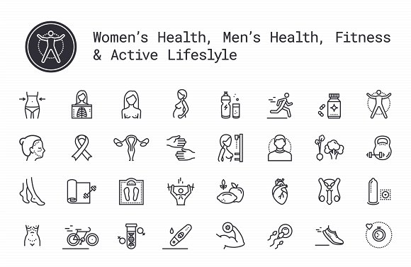 People's Healthcare Fitness Icons
