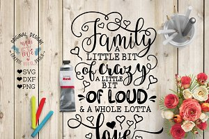 Family Love Cut File and Printable