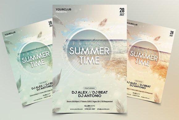 Future Summer PSD Flyer Template