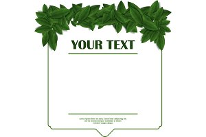 green leaf frame template