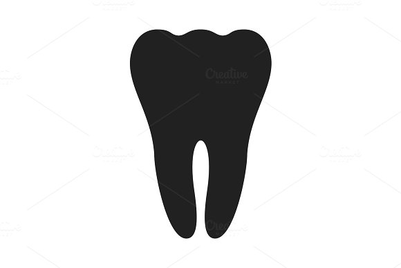 Tooth Black Icon