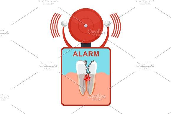 tooth damaged alarm