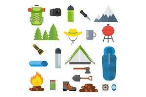 tourist equipment set