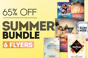 65% OFF SUMMER BUNDLE - 6 Flyers
