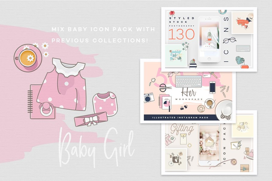 Baby Girl & Boy Icon Pack in Baby Icons - product preview 18