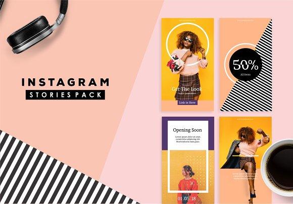 Cool Template Instagram Stories
