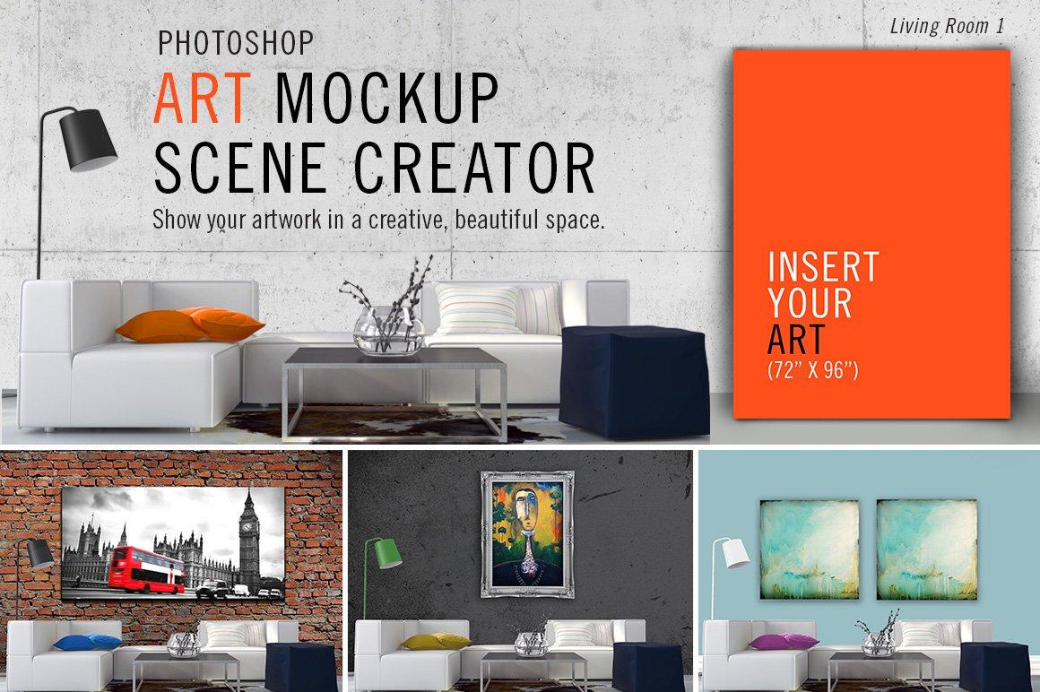 Art Mockup Scene Creator LR1 Product Mockups Creative Market