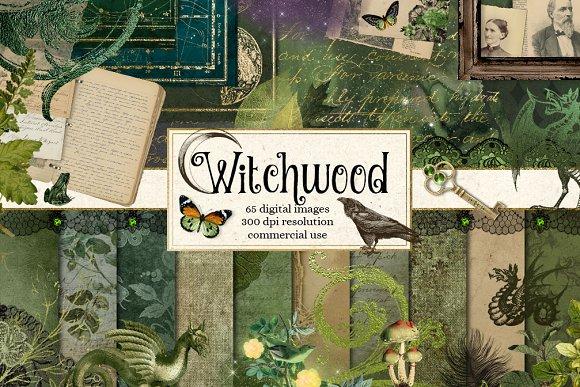 Witchwood Digital Scrapbooking Kit