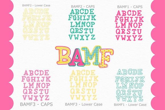 BAMF Mixed Font Trio