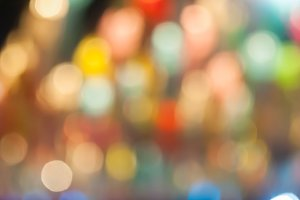 Defocused abstract bokeh lights