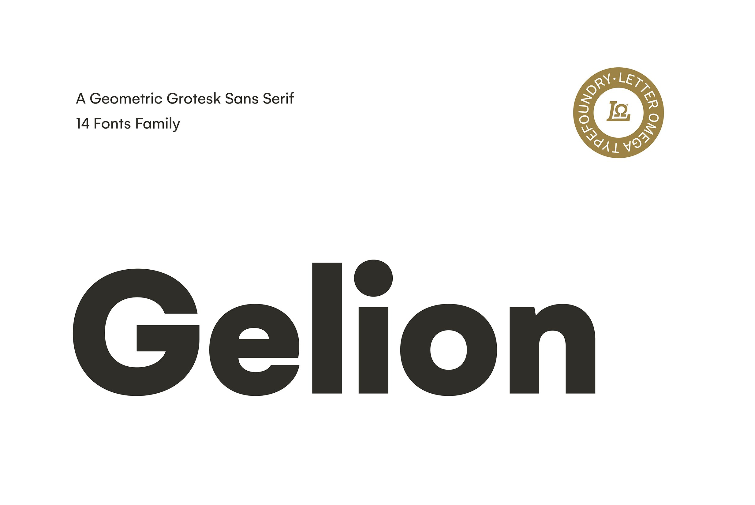 Gelion Typeface ~ Sans Serif Fonts ~ Creative Market