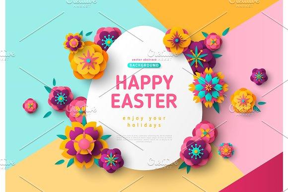 Easter Card With Egg Frame