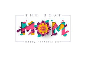 Best mom with flower and frame
