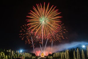 display of colorful fireworks