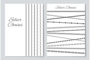 Silver Chains Cover Collection Vector Illustration