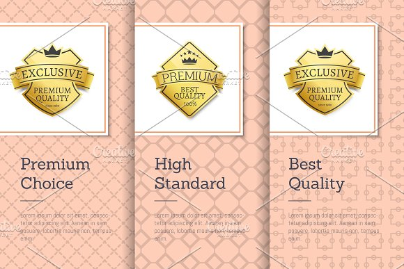 High Standard Quality Premium Choice Golden Labels