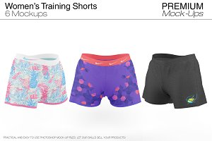 Women's Training Shorts Mockup
