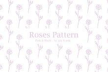 Roses - Pink & Black Patterns