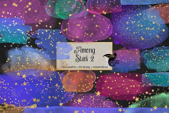 Among Stars 2 PNG Clip Art