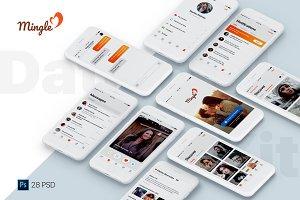 Mingle Dating UI Kit