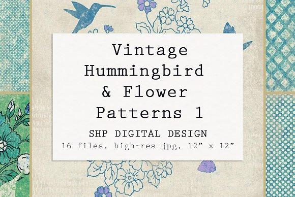 Hummingbird Floral Farmhouse Set