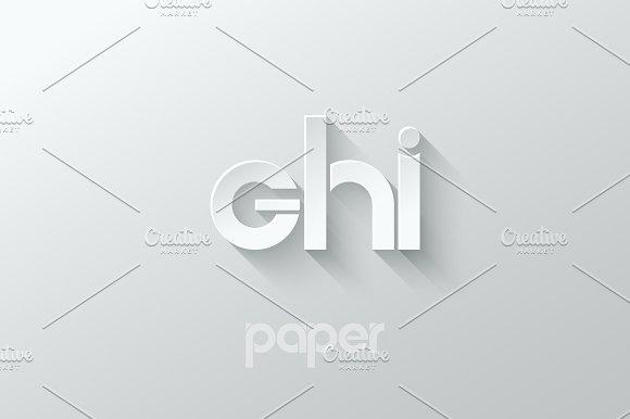 Letter G H I Logo Alphabet Icon