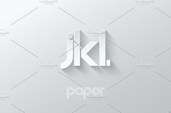 Letter J K L Logo Alphabet Icon