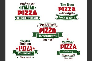 Italian pizza restaurant logo