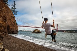 Swing and the Golden gate bridge