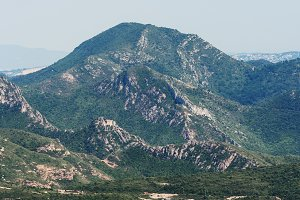 Scenic view of mountains near Montse
