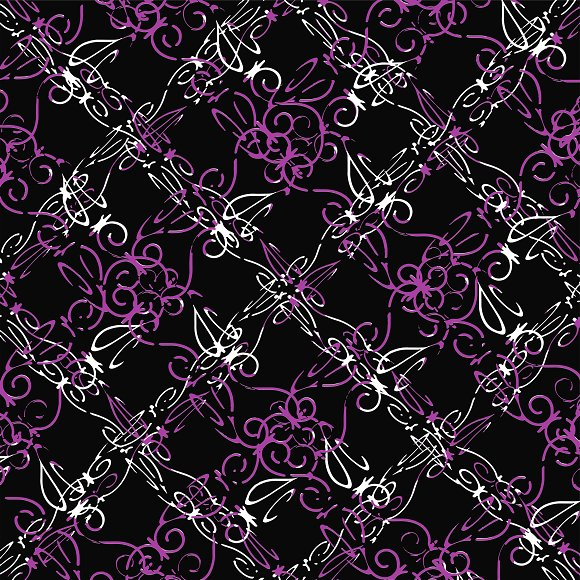 Dark Intersecting Lace Pattern