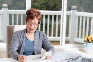 Financial Stress on Senior Woman
