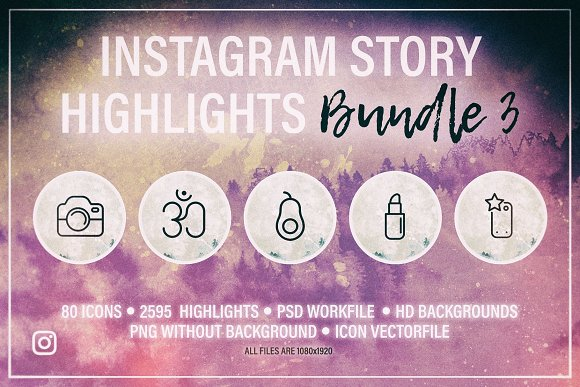 Instagram Story HIGHLIGHTS Bundle 3