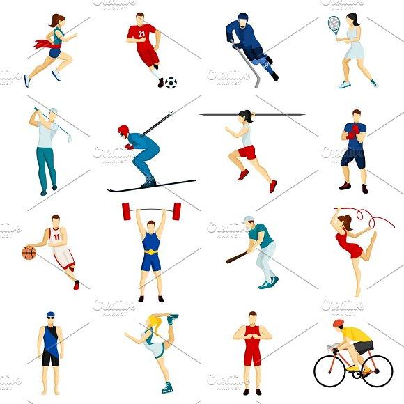 People Sport Icon Set