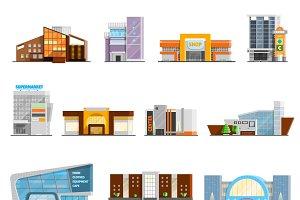 Shopping mall icons set