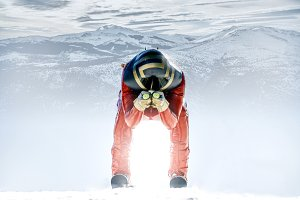 Man practicing Speed Ski Kilometer