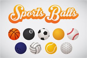 Sports Balls Icon Set
