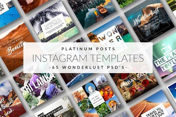 Platinum Posts Instagram Templates
