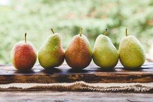Fresh Forelle pears