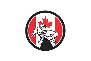 Canadian Handyman Canada Flag Icon