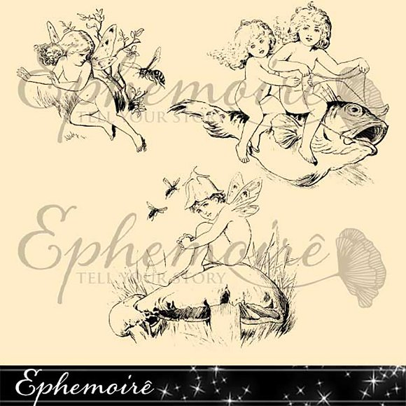 Fairy Children Photoshop Brush Trio