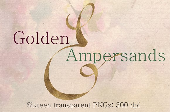 Gold Foil Ampersands